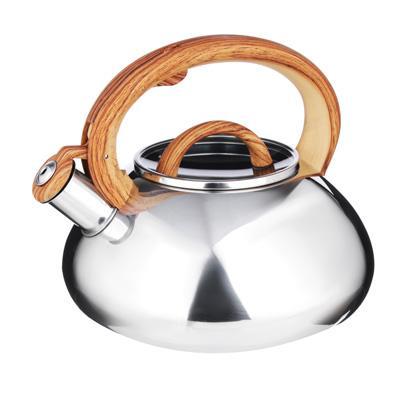 Чайник стальной, зеркальный, стеклянная крышка, индукция, 3.0л, VETTA