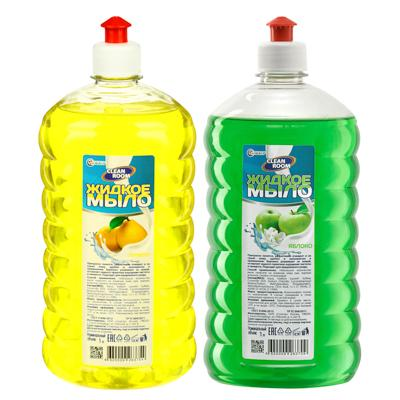Мыло жидкое Clean Room яблоко,лимон/Бархат ромашка (антибактериальное), п/б 1000мл, БМ-311
