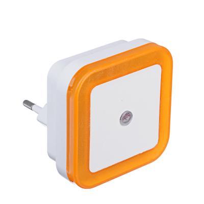 FORZA Ночник в розетку 220-240В, пластиковый с датчиком освещения LED, 4 цвета