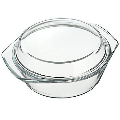 Кастрюля жаропрочная с крышкой 1,4 л SATOSHI, стекло