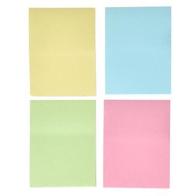 Набор блоков с клеевым краем 50 листов, 4 блока в упаковке, 4 цвета