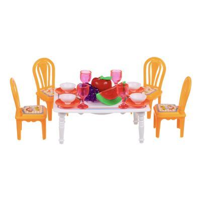ИГРОЛЕНД Набор мебели и посуды для кукол, ABS, 13,5х11х10см, 967