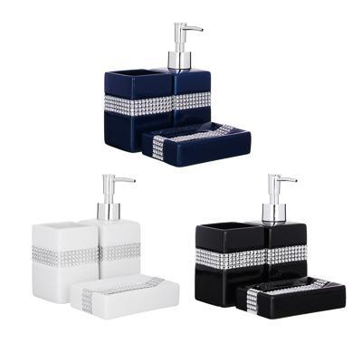 Набор для ванной, 3 предмета, керамика, Сити