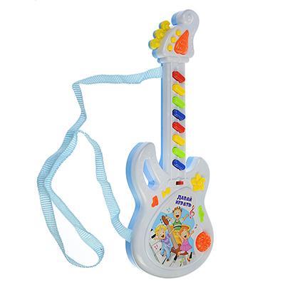 МЕШОК ПОДАРКОВ Игрушка электронная Гитара, звук, PP, 2хАА, 10х25х3см, ZY287807