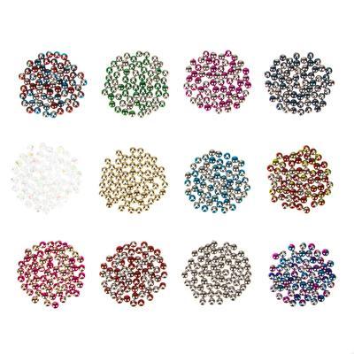 Декор швейный в виде бусин, 12 цветов, пластик