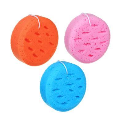 Мочалка-спонж, 13,5х5см, 3 цвета
