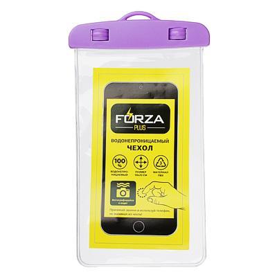 Чехол для телефона водонепроницаемый на шнурке FORZA 10х20 см, ПВХ, 6 цветов