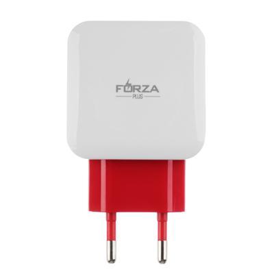 FORZA Сетевое зарядное устройство Акварель, 2xUSB, 2А, 5В, 3 цвета