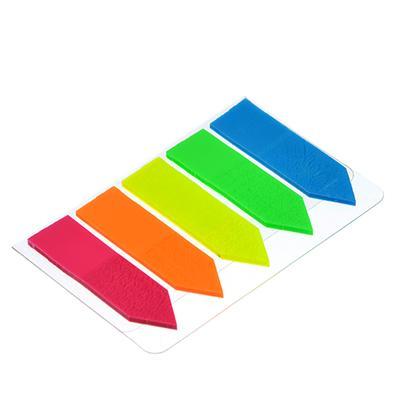 Закладки-стрелки с клеевым краем ClipStudio пластиковые 5 штук по 25 листов, 5 цветов,