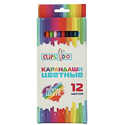 Карандаши ClipStudio 12 цветов шестигранные, пластик