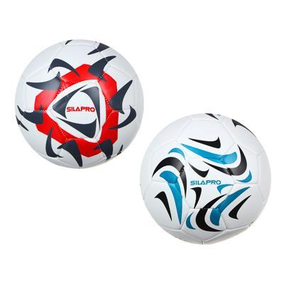 Мяч футбольный, 4 сл, размер 5, 22 см, PU, сшитый, дизайн 2, SILAPRO