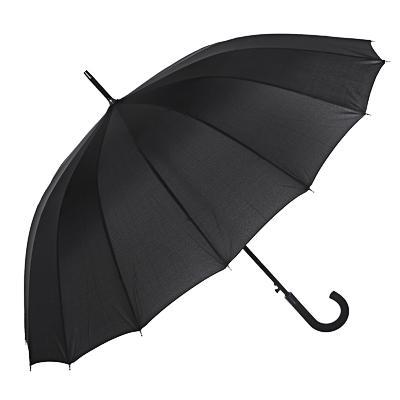 Зонт-трость мужской, черный
