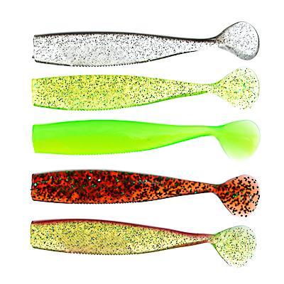 Приманка мягкая AZOR FISHING Виброхвост 4.5, силикон Премиум, 110 мм, 3 шт., микс цветов