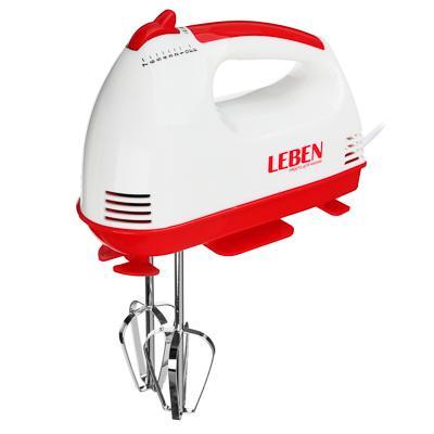 Миксер кухонный LEBEN 100Вт, 7 скоростей, 4 насадки с коробочкой 269-012