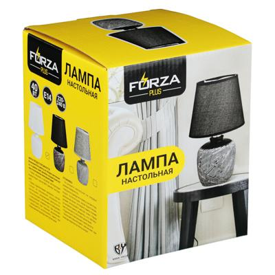 FORZA Лампа настольная 27,5см, E14, 40 Вт, 220-240В, керамика, текстиль, 3 цвета