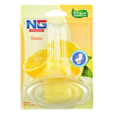 Освежитель для унитаза подвесной, аромат лимон, NEW GALAXY
