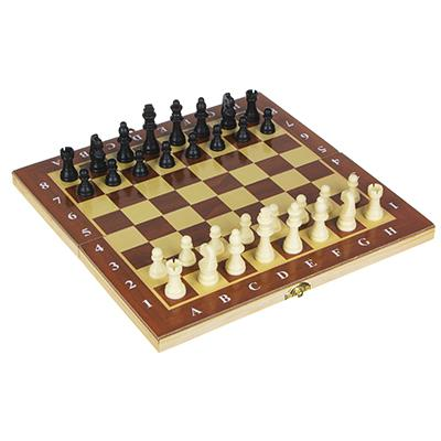 Настольная игра, шахматы, дерево, пластик, 29х29см, 1