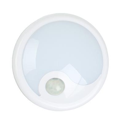 ЧИНГИСХАН Светильник с датчиком движения, 6 LED, 1Вт, 4*АА, 12х12х5см, пластик