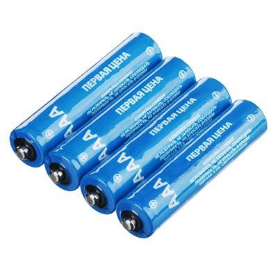 Батарейки, 4 шт, солевые, тип ААА (R03), плёнка, Убойная цена