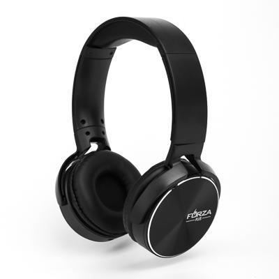 Наушники FORZA с микрофоном полноразмерные под металлик, коробка картон, 2 цвета