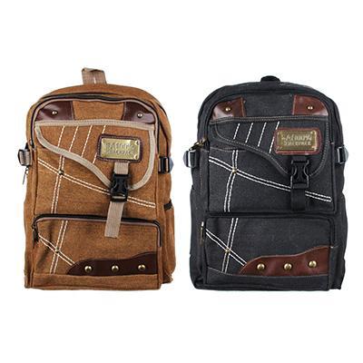 Рюкзак подростковый 41x31x15см, мягкий, 1 отдение на молнии, 4 кармана, металл, 2 цвета