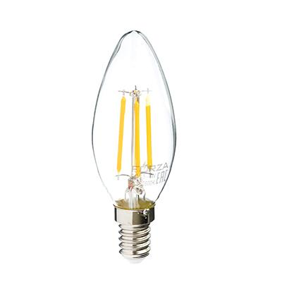 Лампа филаментная FORZA свеча, 4W, Е14, 390lm, 2800К