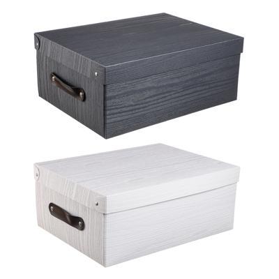 Короб для хранения складной с ручкой VETTA, 37,5х28х15 см, 3 дизайна, пластик