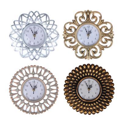 Часы настенные, пластик, 25см, золото, 1хАА