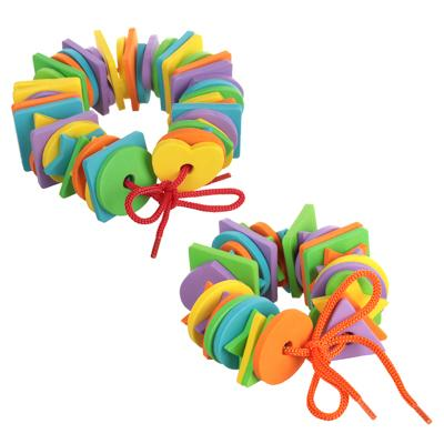 МЕШОК ПОДАРКОВ Шнуровка в виде геометрических фигур/цветов, ЭВА, 15х17см, 2 дизайна