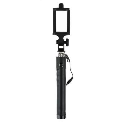 Палка для селфи FORZA 18-74см, прорезиненная, пластик, металл, черный