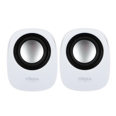 Аудиоколонки USB FORZA 2 шт, квадратные, 7x7см, провод 65см, 3.5мм Jack