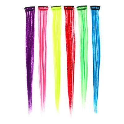 Цветные пряди волос на гребне BERIOTTI, длина 35-40 см, 6 цветов