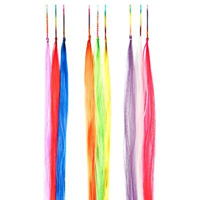Цветные пряди волос на невидимках BERIOTTI, 25-28 см, 3 дизайна