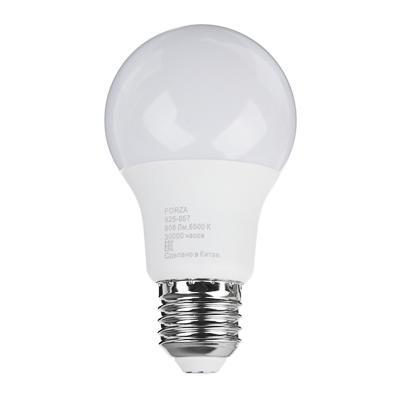 Лампа светодиодная FORZA A60 9W, E27, 806lm, 6500К