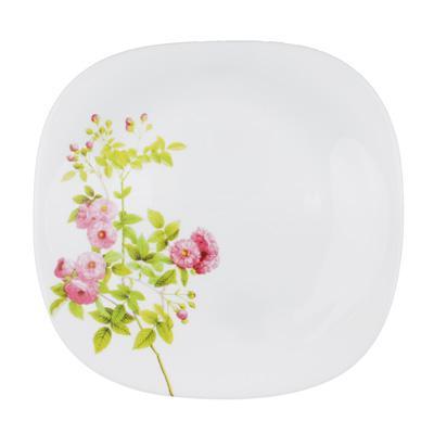 Тарелка десертная d. 21,5 см, опаловое стекло, квадратная форма, MILLIMI