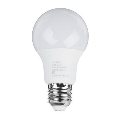 Лампа светодиодная FORZA A60, 9W, E27, 806lm, 4000К