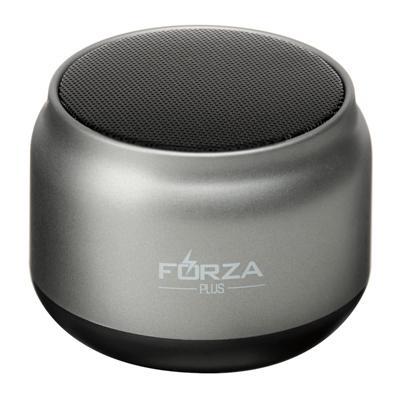 Колонка беспроводная FORZA круглая серебряная, 7x7x4,5см, micro-SD, AUX, USB, 400 мач