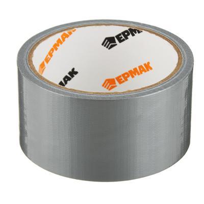 Лента клейкая армированная, 48 ммх10 м, серебряная, инд.упаковка, ЕРМАК
