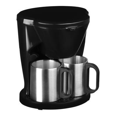 Кофеварка капельная LEBEN 500Вт, две металлические чашки 0,3л 286-025