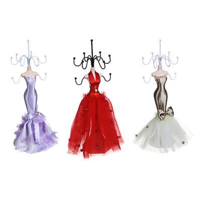 Подставка для ювелирных украшений в виде платья, 22 см, металл, полиэстер, 3 цвета