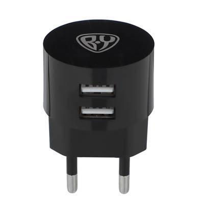 Зарядное устройство FORZA BY USB Вертикальное, 220В, 2USB, 2А, пластик