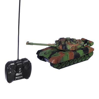 ИГРОЛЕНД Танк радиоуправляемый, движение, свет, звук, ABS, аккум в компл., 34,5х14,8х14,8см