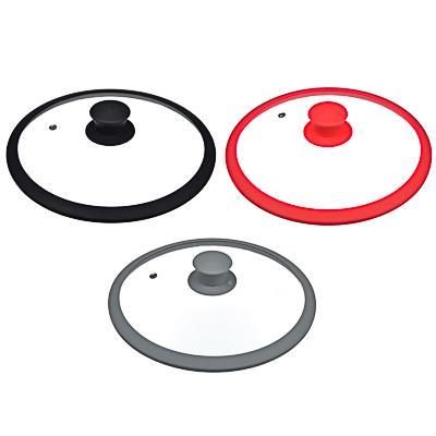 Крышка для сковороды d. 28 см SATOSHI, стекло/силикон с ручкой, 3 цвета