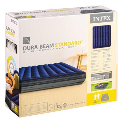 Кровать надувная, FIBER-TECH, 183х203х25 см, INTEX