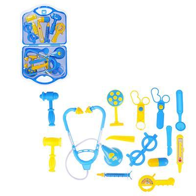 ИГРОЛЕНД Набор доктора в чемоданчике, 15 пр., PP ,PVC, 23х40х3,5 см, 2 цвета