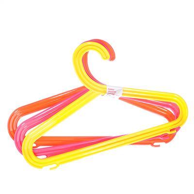 Набор вешалок детских цветных 3шт, пластик, Р4002НС3