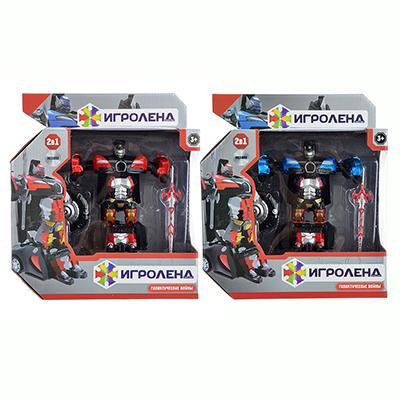 ИГРОЛЕНД Робот-машина, ABS, аллюминий, 12,5х6х3,5см, 2 дизайна
