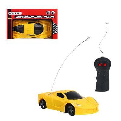 ИГРОЛЕНД Машинка на радиоуправлении ,1:24 ,1-канальный пульт, PP, 5АА,18х10х5 см, 2 цвета