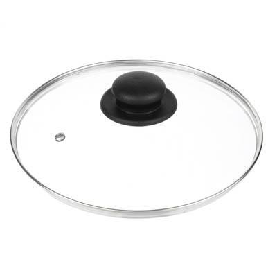 Крышка для сковороды d. 24 см, стеклянная, с металлическимободком