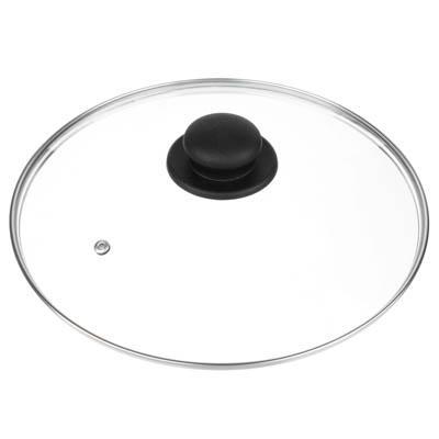 Крышка для сковороды d. 28 см, стеклянная, с металлическимободком
